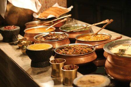Traditionelle Ernährung in Indien.