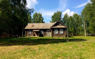 Russisches Holzhaus
